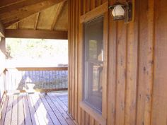 Cedar siding for the house? Cedar Siding, Wood Siding, Exterior Siding, Exterior Remodel, Cabin Homes, Log Homes, Board And Batton Siding, Rustic Sunroom, Vertical Siding