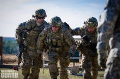 National Guard Soldiers push each other towards success.