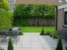 tuin-ideeen | Leuke leibomen tegen de schutting Door Inspi