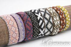 Blog z autorską, ręcznie wyszywaną biżuterią w technice sutasz. Bangles, Bracelets, Beading, Blog, Jewelry, Fashion, Moda, Beads, Jewlery