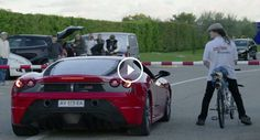 Man on 207-mph bicycle humiliates Ferrari at dragstrip