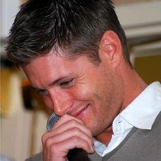 Blushing? Just look at that skin.  Geesh.