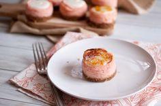 wow this looks good  bruleed blood orange and ricotta mini cheesecakes - domesticfits.com