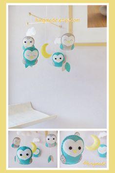 Baby Crib Mobile  Barn Owl Mobile  Nursery Mobile  by hingmade, $78.00