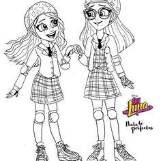 """Luna y Nina práctican patinando, una sorpresa para Gastón! #gastina Me encanta este dúo! Etiqueta a una amiga que te ayude en las tareas, en aprender un deporte, etc! Mañana se viene un episodio... ¿Ámbar es la hija de Sharon? Lo sospeche tanto, pero realmente después creí que Ámbar al menos una vez habra visto a """"sus padres que estaban de viaje""""... #nadadeperfectas #soylunadibujos #SoyLuna2"""