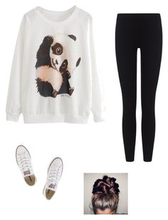 """lazy day"" by internationalbaby ❤ liked on Polyvore featuring James Perse and Converse"