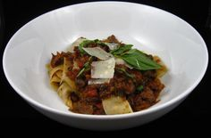 Homemade Tagliatelle With Wild Boar Ragu | Category: Main Dishes