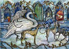 The Snow Queen's Ball - Whippet Art Print