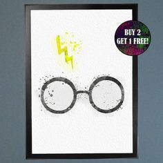 Harry Potter The Boy Who Lived  Watercolor by WatercolorFontaine