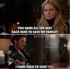 """I came back to save YOU."" Hook will always come back to Emma."