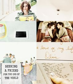 But it isn't enough time.It never would have been.-Seeking a Friend for the End of the World