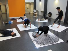 Ram Samocha's workshop (Drawing becomes Performance), Goldsmiths University, London, 2015