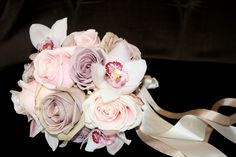 Roses and Cymbidium