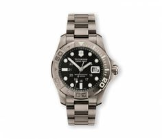 Victorinox Swiss Army Men's 241262 Dive Master Black Dial Watch Victorinox Swiss Army. $600.00. Titanium case. Case diameter: 43 mm. Antireflective-sapphire crystal. Quartz movement. Water-resistant to 1640 feet (500 M). Save 20% Off!