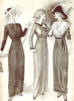 1911 Fashion Illustration The Delineator Ladies Stylish