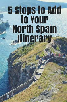 5 Places to Include in Your North Spain Road Trip. Spectacular Places off the Beaten Path - a Celtic Fort, Cathedral Beach, a Gaudi House, Game of Thrones Location, Medieval Village. Things to do in Spain Spain Road Trip North Spain Northern Spain European Road Trip, European Travel, Menorca, Beautiful Places In Spain, Europa Tour, Spain Road Trip, Costa, Camping San Sebastian, San Sebastian Spain