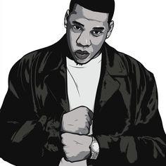 Jay Z | Art by Samona Lena info@scaredofmonsters.com http://scaredofmonsters.com http://instagram.com/ho3sz http://scaredofmonsters.tumblr.com/ https://society6.com/scaredofmonsters http://nabaroo.com/Samona/nabs