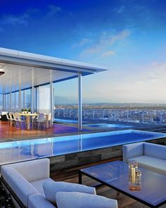 The penthouse atop the Four Seasons Private Residences-Los Angeles will have a 9,000-square-foot garden and a swimming pool.