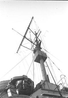 Mast of German battleship Bismarck, 1940-1941