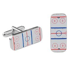 HOCKEY CUFFLINKS | Ice Hockey Cufflinks, Sports, Rink | UncommonGoods
