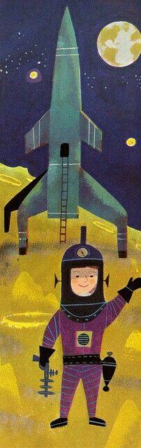 "Mid-century illustration. ""Songs for Children"" by Hoagy Carmichael.  Illustrated by JP Miller, 1957."