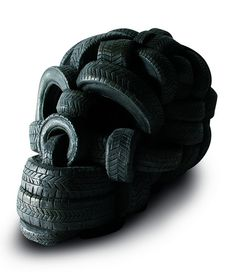 sculpture made out of tires #creative #art