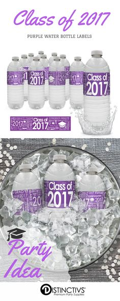 Here is a great way to bring that extra special touch to your purple graduation party decorations and drink station.