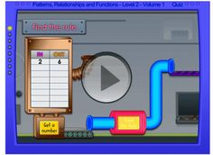 Function Machine. Links to website with other educational games.