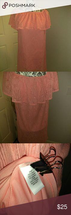 NWT APT 9 OFF SHOULDER CORAL DRESS Lace Print Lining Off Shoulder Apt.9 Dresses Strapless