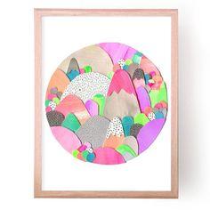 Rainbow Mountain - Art Print by Laura Blythman. Shop Laura Blythman Art Prints Online. Shipping in Australia and Worldwide