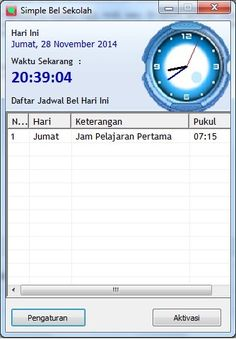 Download Bel Sekolah Otomatis 3 bahasa Gratis yaitu bahasa indonesia, bahasa inggris dan Bahasa Arab seccara full versi dari ichasoft