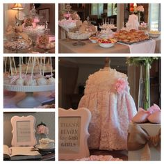 Baby Shower decorations for a baby girl