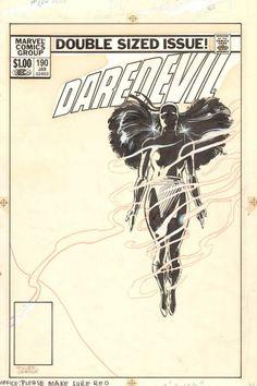 Daredevil #190 Cover by Frank Miller