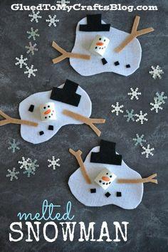 Melted Snowman - Kid Craft Idea