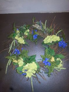 Check out this item in my Etsy shop https://www.etsy.com/listing/214495025/christmas-wreath-in-purple-greens-and
