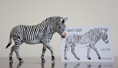 Original sculpture of Female Grevy's Zebra 1:20 scale for sale - by Harriet Knibbs Sculptures