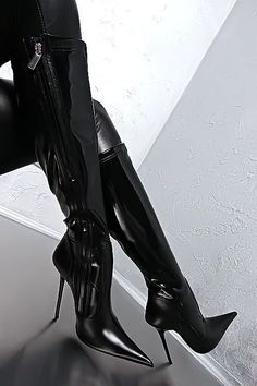 1969 ITALY LEDER HOHE Stretch Stiefel Schuhe Z30 Boots Best Leather High Heels #blackhighheelsboots #Kinkythighhighboots #stretchingshoes