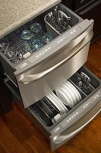Make space for two dishwashers instead of one - what a great energy saving idea