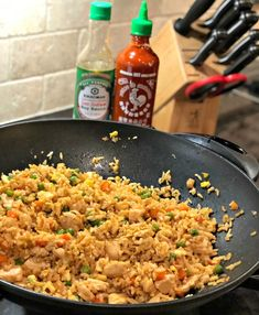 Better Than Takeout Chicken Fried Rice. Better Than Takeout Chicken Fried Rice- The Cookin' Chicks. Forget going out for Chinese food! You can make this at home dish and save on time, budget, and have plenty for leftovers! Healthy Recipes, Asian Recipes, Cooking Recipes, Ethnic Recipes, Cooking Rice, Cooking Eggs, Chinese Food Recipes, Cooking Videos, Cooking Bacon