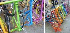 bike frame bike racks