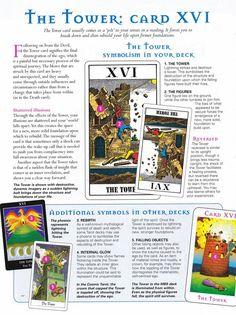 The Tower major arcana tarot Tarot Significado, Tarot Card Spreads, Tarot Astrology, Tarot Major Arcana, Tarot Card Meanings, Tarot Readers, Psychic Readings, Oracle Cards, Card Reading