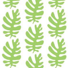 Funky Leaf  (green) fabric by prybolt on Spoonflower - custom fabric
