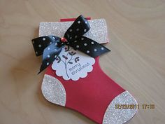 The Daily Stamper: Stampin'Up! HOLIDAY STOCKING Bigz L Die
