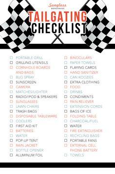 Tailgating Checklist