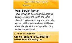 I  have known Jo the lettings manager for many years now and found her super efficient in...