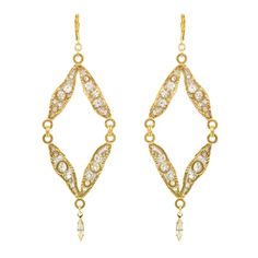Icicle Open Diamond Earring Semi Annual Sale, Gold Necklace, Pendant Necklace, Diamond Earrings, Chain, Shopping, Collection, Jewelry, Gold Pendant Necklace