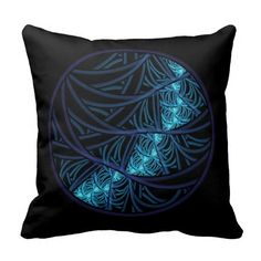 Blue Moon Throw Pillows