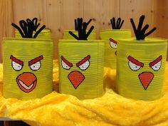 Angry birds spill Angry Birds