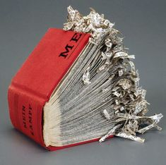 "Collaged Altered book by Lisa Kokin, titled ""I Only Love What I Least Know"""