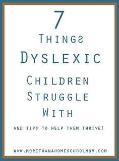 how to know if your child is dyslexic
